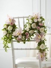 Orchid and Rose Chair Swag