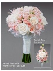 Mixed Rose and Nerine Bridal Bouquet